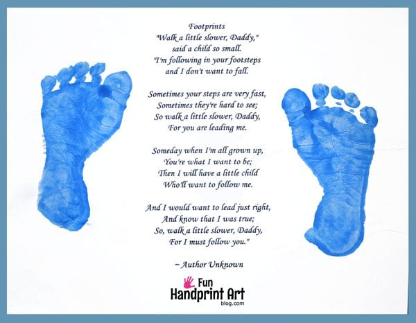 Footprints Poem Father's Day Craft