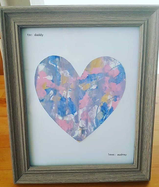 Mess Free Heart Father's Day Craft