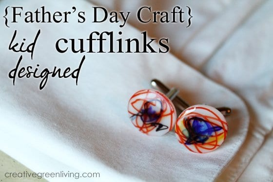 Cufflinks for Daddy Father's Day Craft