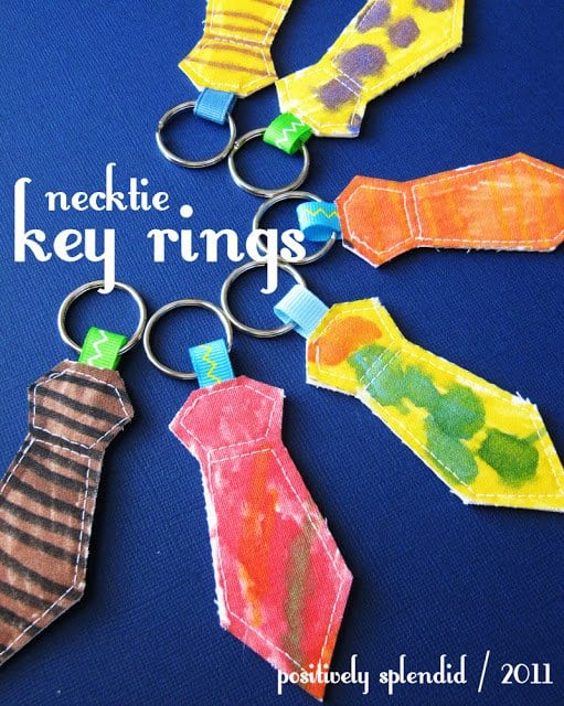 Necktie Key Rings Father's Day Craft