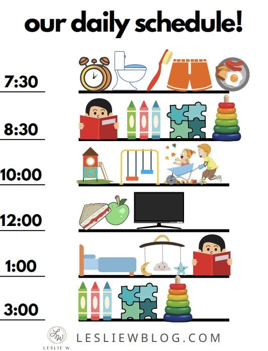 toddler schedule free printable