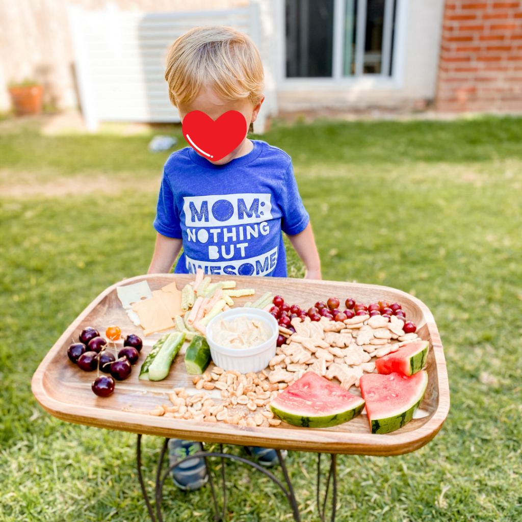 snack board for kids